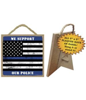 Police blue line 5x5
