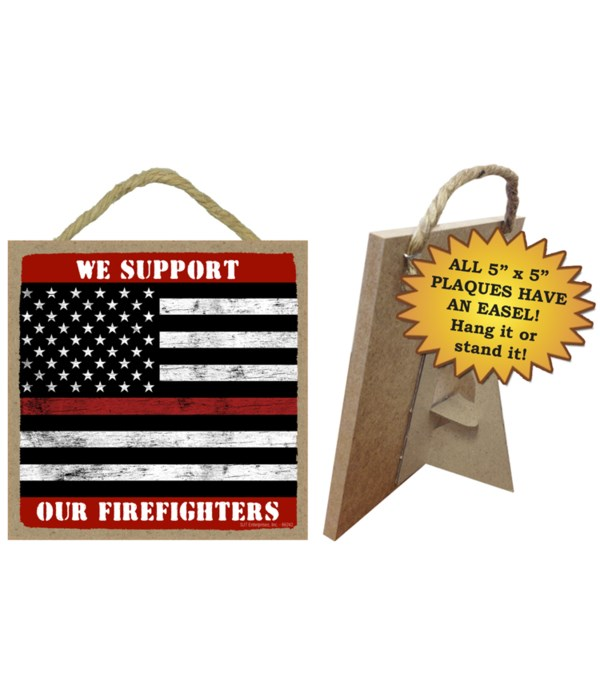 Fire fighter red line 5x5