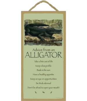 Advice from an Alligator 5x10