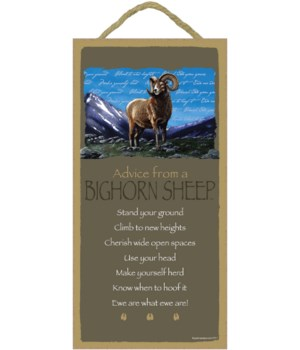 Advice from a Big Horn Sheep 5x10