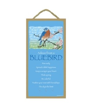 Advice from a Bluebird 5x10