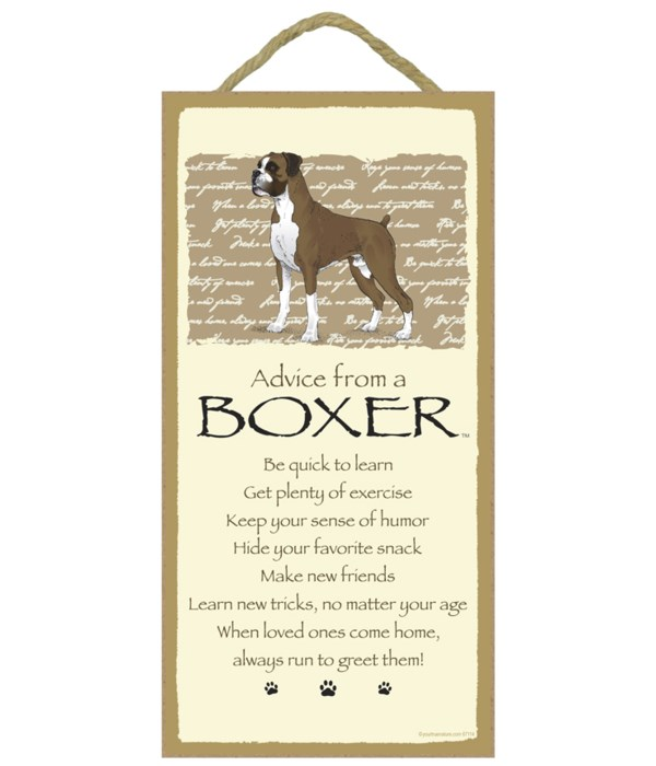 Advice from a Boxer 5x10