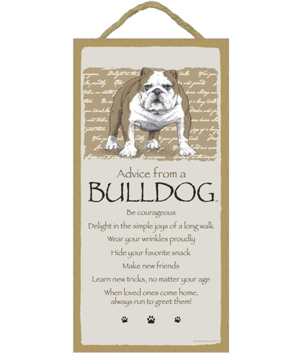 Advice from a Bulldog 5x10