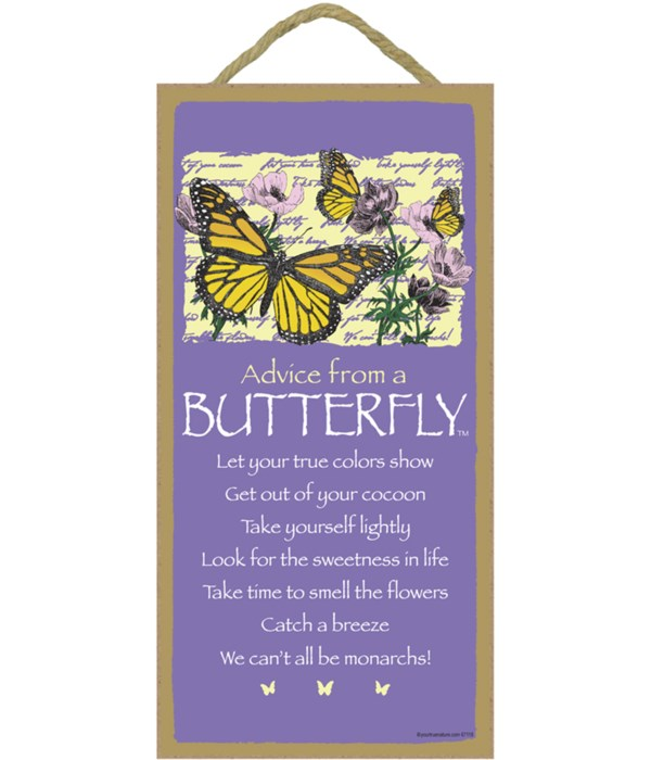 Advice from a Butterfly 5x10