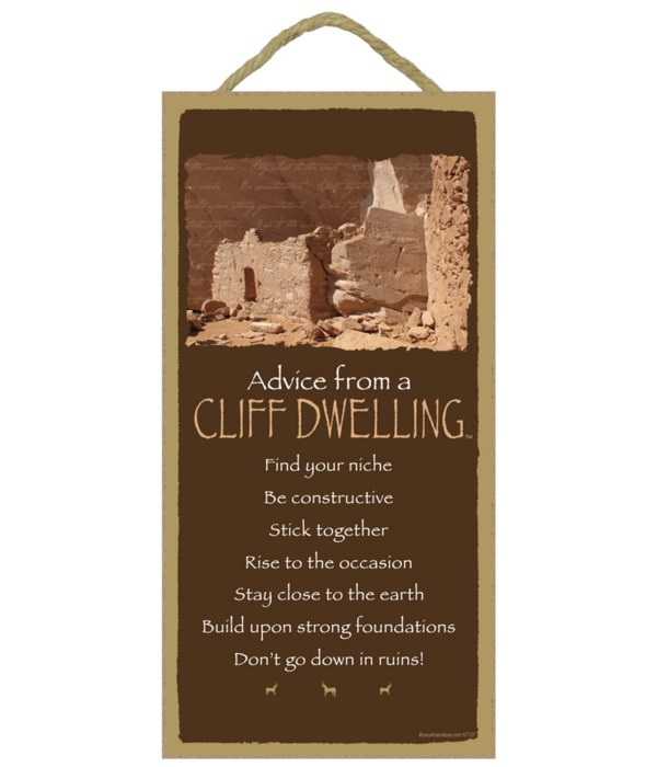 Advice from a Cliff Dwelling 5x10