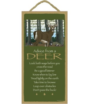 Advice from a Deer 5x10