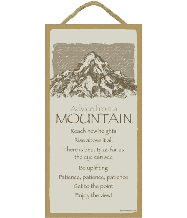 *Advice from a Mountain 5x10