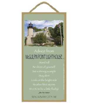 McGulpin Point Advice Plaque 5x10