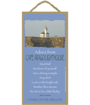Cape Arago Lighthouse Advice Plaque 5x10