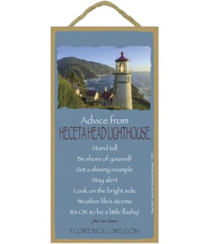 Heceta Head Advice Plaque 5x10