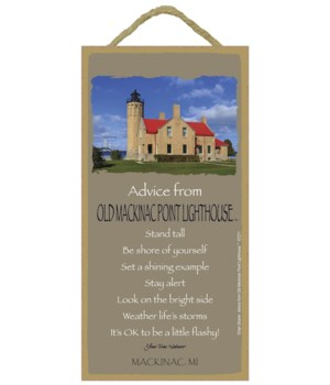 Old Mackinac Advice Plaque 5x10