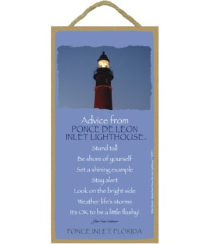 Ponce De Leon Inlet Advice Plaque 5x10
