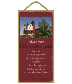 Round Island Advice Plaque 5x10