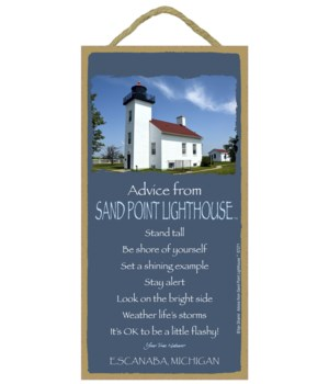 Sand Point Lighthouse Advice Plaque 5x10