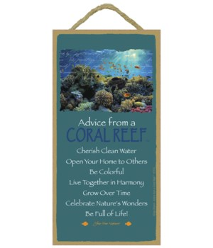Advice from a Coral Reef 5x10 Sign