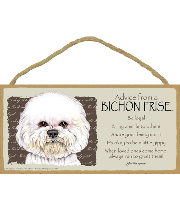 Advice from a Bichon 5x10