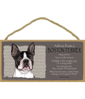 Advice from a Boston Terrier 5x10