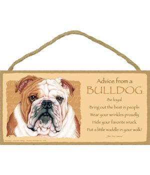 Advice from a Bulldog 5x10