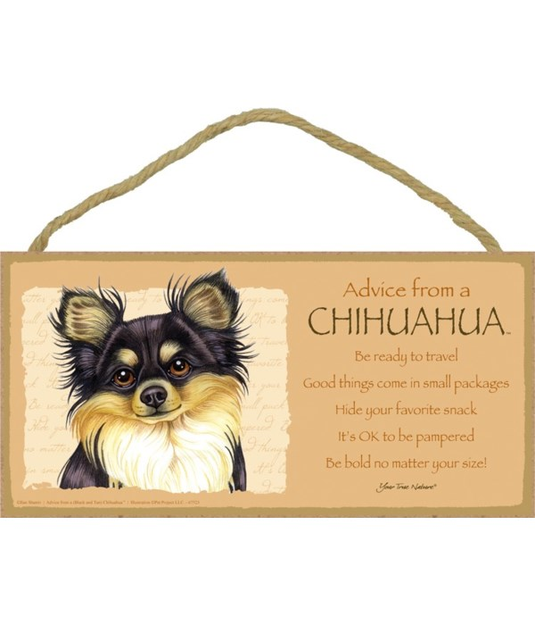 Advice from a Chihuahua (black & tan) 5x