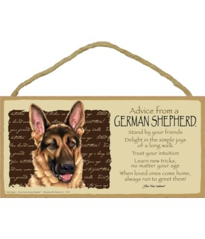 Advice from a German Shepherd 5x10