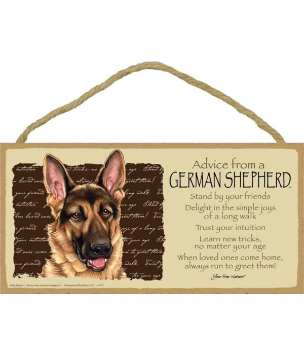 Advice from a German Shepherd 5x10