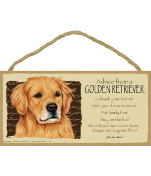 Advice from a Golden Retriever 5x10