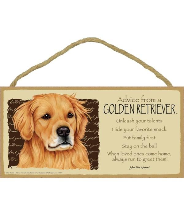 Advice from a Golden Retriever 5x10