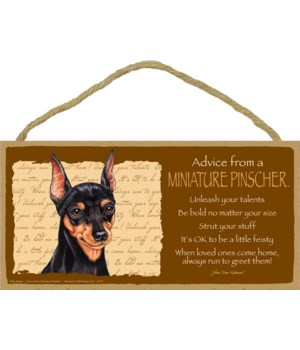 Advice from a Miniature Pinscher 5x10