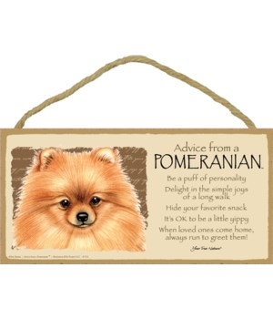 Advice from a Pomeranian 5x10