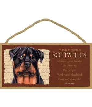 Advice from a Rottweiler 5x10