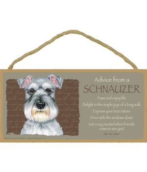 Advice from a Schnauzer 5x10