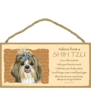 Advice from a Shih Tzu 5x10