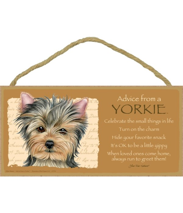Advice from a Yorkie 5x10