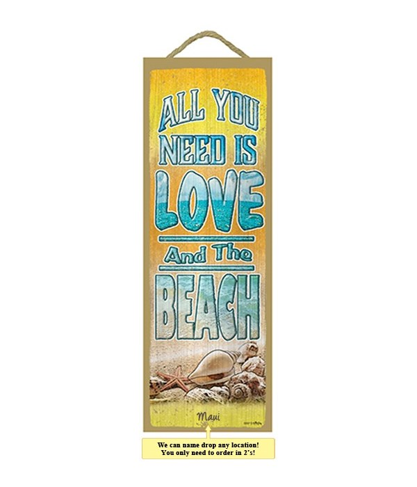 All you need is love, And the beach 5 x