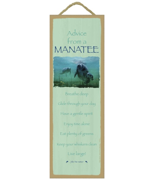 Advice from a Manatee 5x15