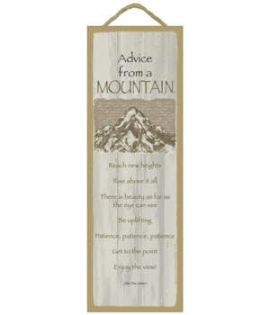 Advice from a Mountain 5x15