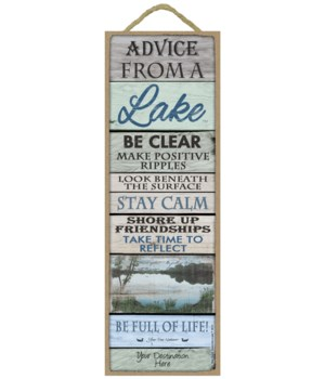 Advice from a Lake - Wood Plank theme (w