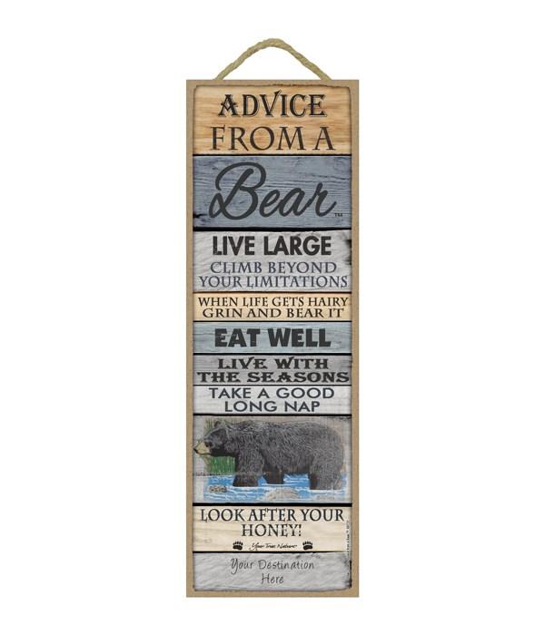 Advice from a Bear 5x15 Plank