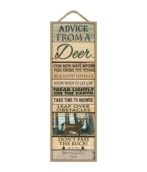 Advice from a Deer 5x15 Plank