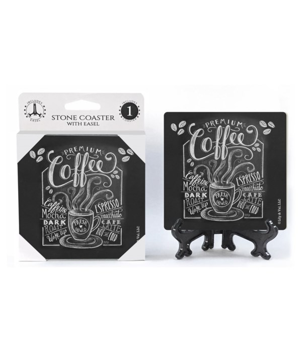 Coffee (black with white lettering)  coa