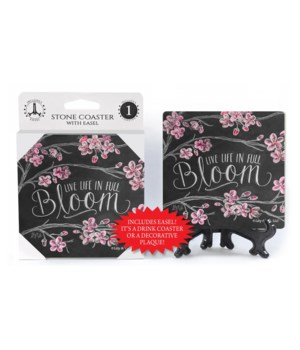Live life in full bloom  coaster 1-pack