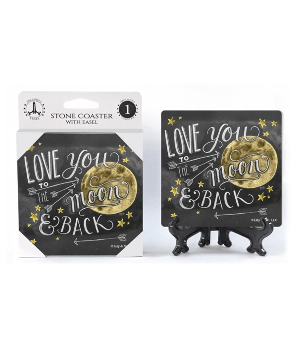 Love you to the moon and back  coaster 1