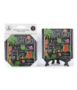 Rum punch recipe  coaster 1-pack