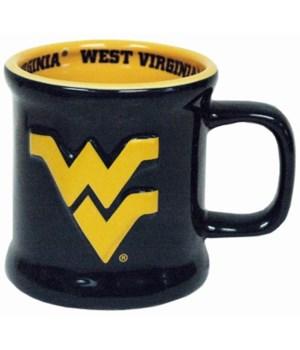 WV-U Mug Ceramic Relief Logo 10oz