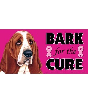 Bark for the Cure Basset Hound 4x8 Car M