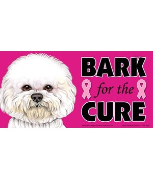 Bark for the Cure Bichon  4x8 Car Magnet