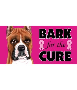 Bark for the Cure Boxer  4x8 Car Magnet