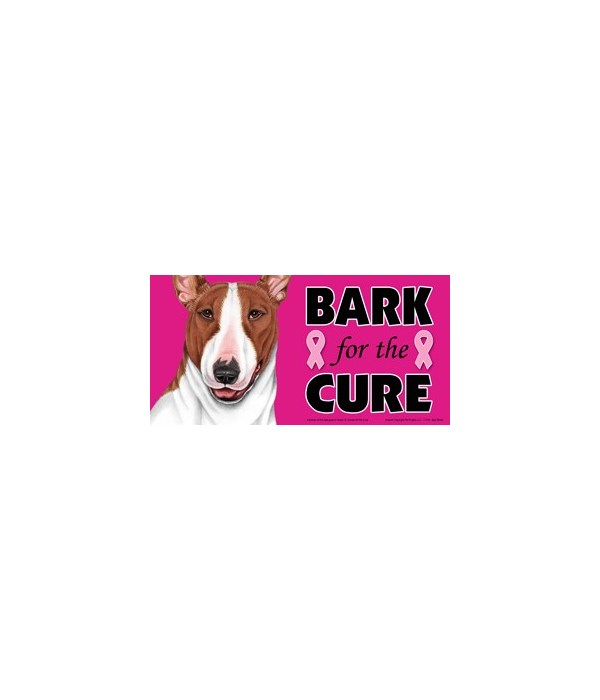 Bark for the Cure Bull Terrier (Brown &