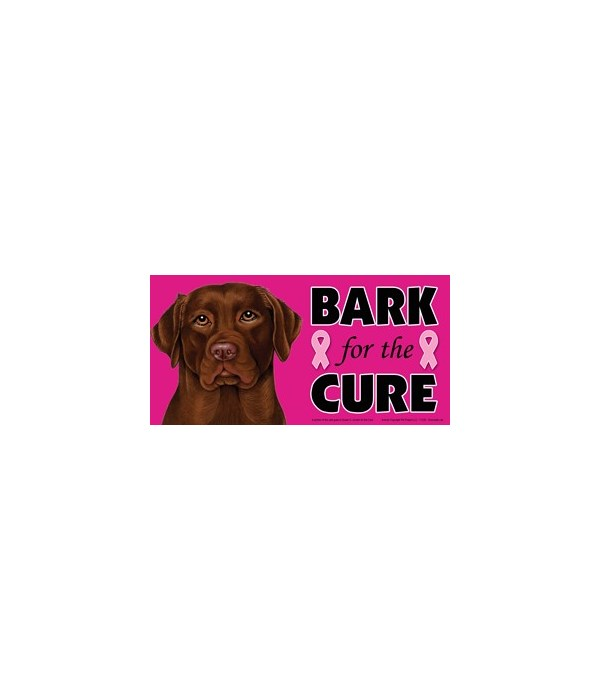 Bark for the Cure Chocolate Lab  4x8 Car