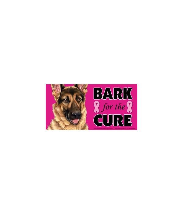 Bark for the Cure German Shepherd  4x8 C